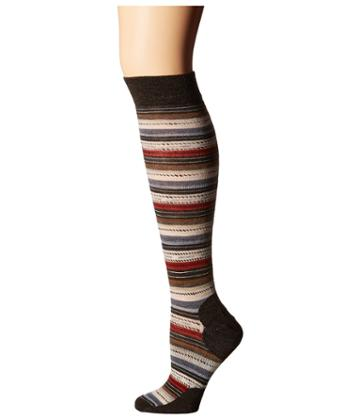 Smartwool Margarita Knee Highs (chestnut) Women's Knee High Socks Shoes