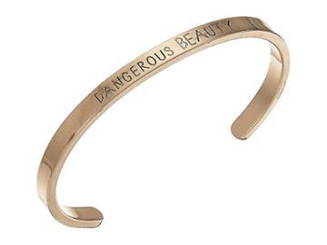 Steve Madden Dangerous Beauty Open Bangle (gold) Bracelet