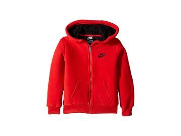 Nike Kids Futura Fleece Sherpa Full Zip (little Kids) (university Red) Boy's Sweatshirt
