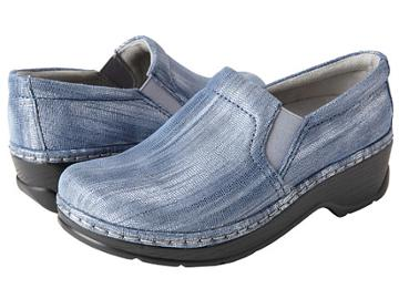 Klogs Naples (denim Shimmer Leather) Women's Clog Shoes