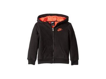 Nike Kids Futura Fleece Sherpa Full Zip (toddler) (black) Boy's Sweatshirt
