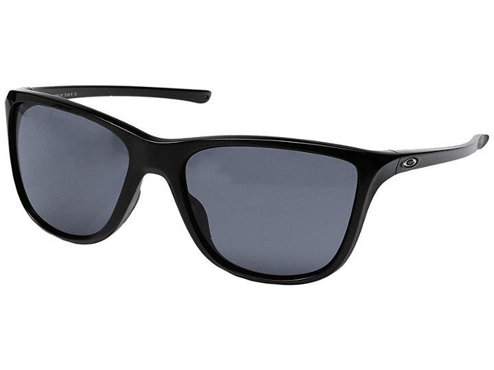 Oakley Reverie (polished Black W/ Grey) Fashion Sunglasses