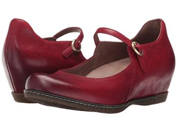 Dansko Loralie (red Burnished Nubuck) Women's  Shoes