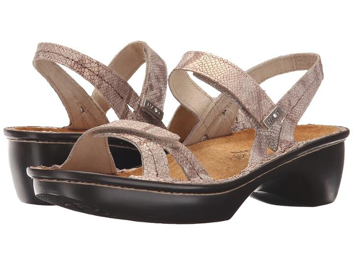 Naot Brussels (beige Snake Leather) Women's Sandals