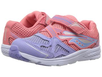 Saucony Kids Ride 9 (toddler/little Kid) (coral/periwinkle) Girls Shoes