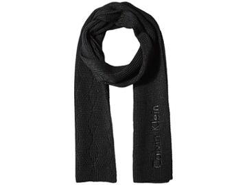 Calvin Klein Chunky Weave Scarf (black) Scarves