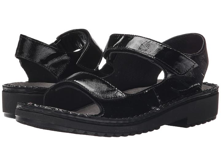 Naot Karenna (black Luster Leather) Women's Sandals