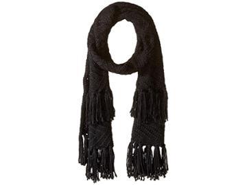 Rebecca Minkoff Chunky Zigzag Muffler (black) Scarves