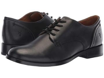 Frye Elyssa Oxford (black Dip-dyed Leather) Women's Lace Up Wing Tip Shoes