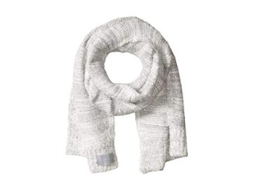 Calvin Klein Marled Sequin Fuzzy Scarf (heathered Mid Grey) Scarves