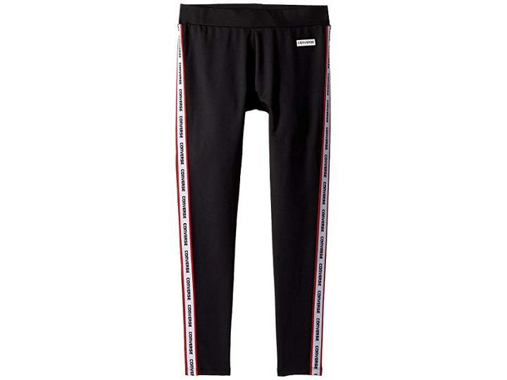 Converse Kids Retro Leggings (big Kids) (black) Girl's Casual Pants