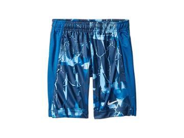 Nike Kids Dri-fit All Over Print Legacy Shorts (little Kids) (game Royal) Boy's Shorts