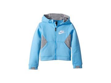 Nike Kids Sportswear Club Fleece Full Zip Hoodie (little Kids) (university Blue) Boy's Sweatshirt