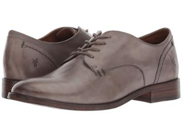 Frye Elyssa Oxford (grey Dip-dyed Leather) Women's Lace Up Wing Tip Shoes