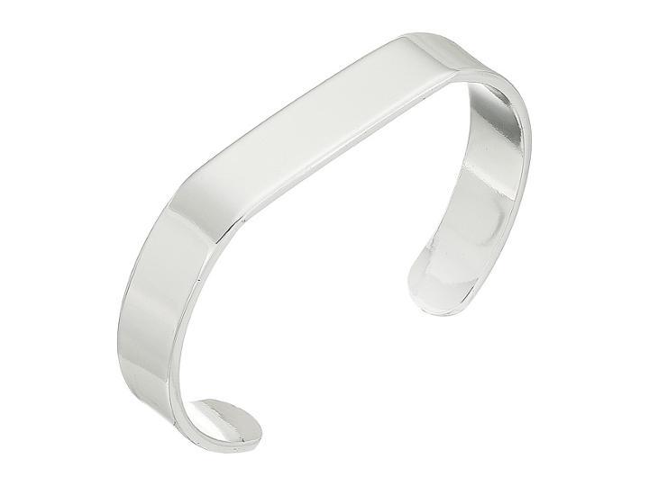 Lauren Ralph Lauren Smooth Metal Cuff Bracelet (silver) Bracelet