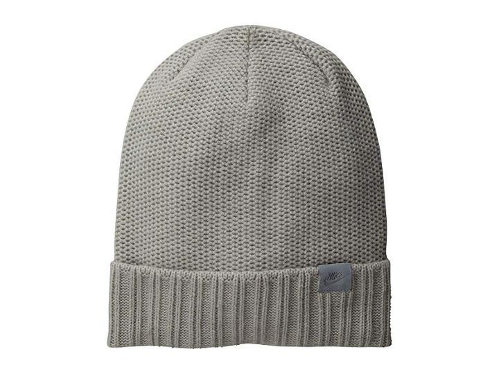 Nike Nsw Beanie Honeycomb Pom (grey Heather/wolf Grey) Beanies