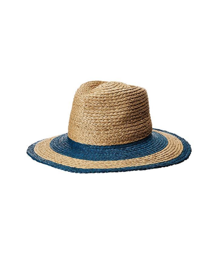 Brixton Hampton Fedora (indigo/tan) Fedora Hats