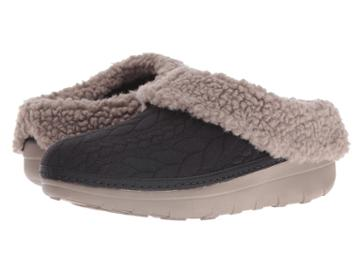 Fitflop Loaff Quilted Slipper (black) Women's Slippers