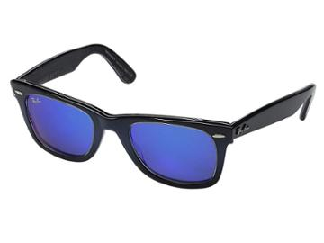 Ray-ban Rb2140 Original Wayfarer 50mm (blue Frame/blue Mirror Lens) Plastic Frame Fashion Sunglasses