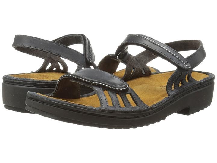 Naot Anika (brushed Black Leather) Women's Sandals