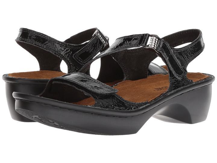 Naot Faso (black Patent Leather) Women's Sandals