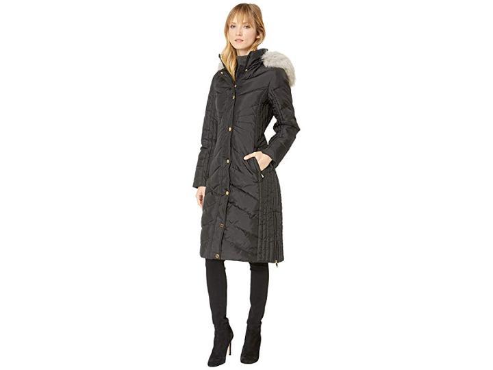 Anne Klein Violetta Coat (black) Women's Coat