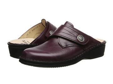 Finn Comfort Santa Fe-s (vino Venezia) Women's Clog Shoes