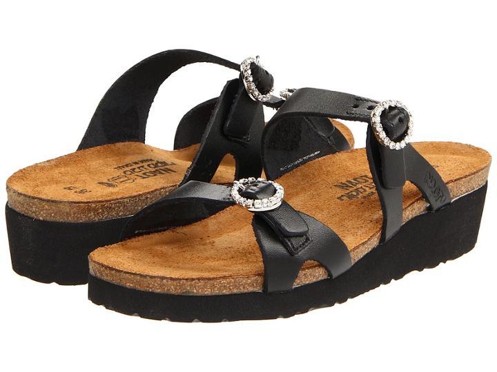Naot Kate (black Matte Leather) Women's Sandals
