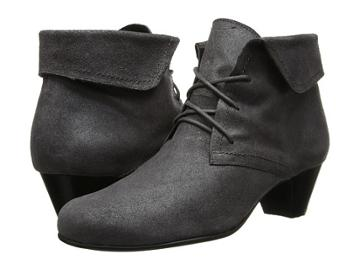David Tate Angelica (grey Antique Leather) Women's Wedge Shoes
