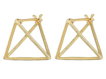 Shashi Pyramid Earrings (gold) Earring