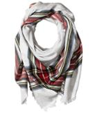 Echo Design Oversize Plaid Square Scarf (marshmallow) Scarves