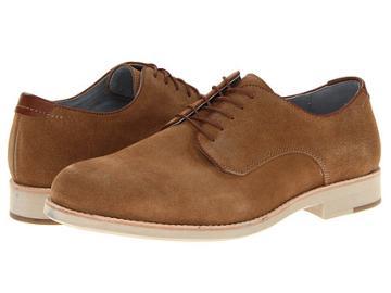 Johnston & Murphy Ellington Plain Toe (tan Suede) Men's Lace Up Casual Shoes