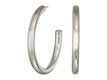 Guess Large Iridescent Hoop Earrings (silver) Earring