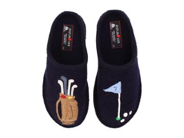 Haflinger Golf Slipper (navy) Slippers