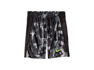 Nike Kids Dri-fit All Over Print Legacy Shorts (little Kids) (black) Boy's Shorts