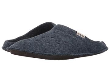 Crocs Classic Slipper (nautical Navy/oatmeal) Slippers