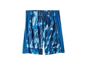 Nike Kids Dri-fit All Over Print Legacy Shorts (toddler) (game Royal) Boy's Shorts