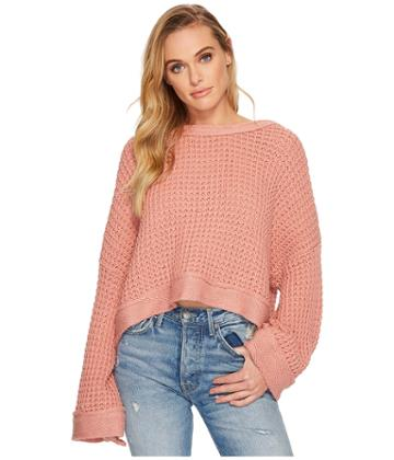 Free People Maybe Baby Sweater (rose) Women's Sweater