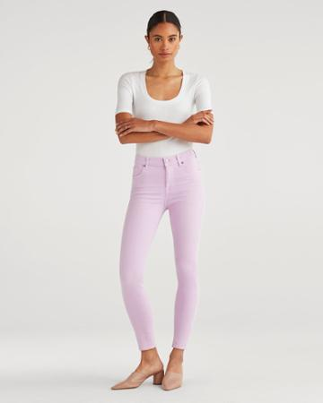 7 For All Mankind Women's High Waist Ankle Skinny In Sweet Lilac