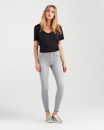 7 For All Mankind B(air) High Waist Skinny With Released Hem In Powder Grey