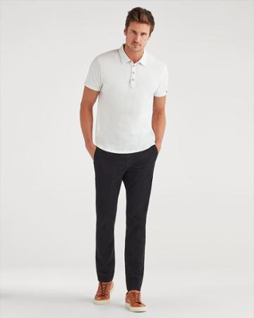 7 For All Mankind Men's Corduroy Slim Chino In Black