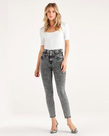 7 For All Mankind Women's Retro Corset Jean In Stowe
