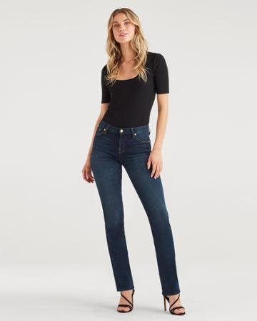7 For All Mankind Women's Kimmie Straight In Dark Moon Bay