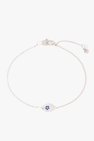 7 For All Mankind Evil Eye Chain Bracelet In Silver