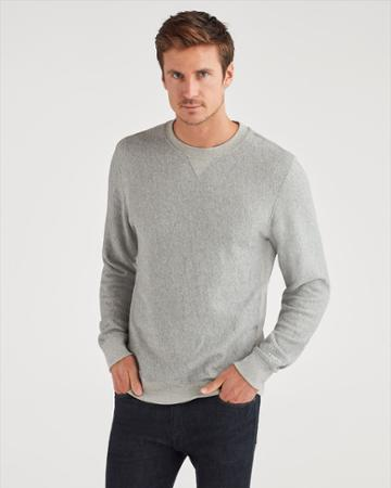 7 For All Mankind Men's Commons Sweatshirt In Heather Grey