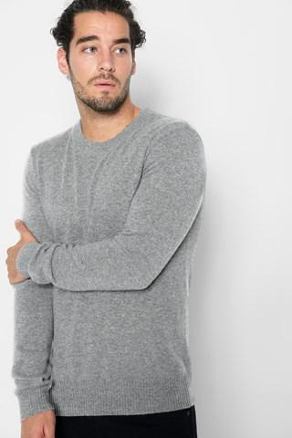 7 For All Mankind Cashmere Crewneck Sweater In Grey