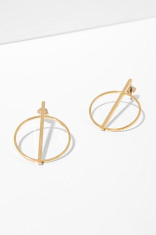 7 For All Mankind Raine Earrings In Gold