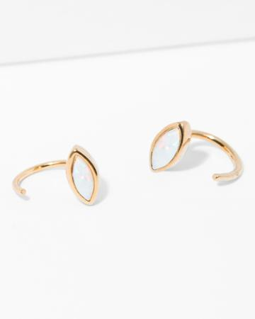 7 For All Mankind Five And Two Jo Earrings In Opal