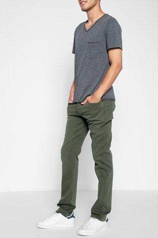 7 For All Mankind Luxe Performance Colored Denim: The Straight In Fatigue