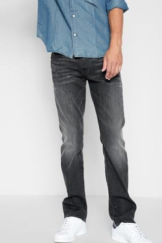 7 For All Mankind Airweft Denim The Straight In Halide Grey